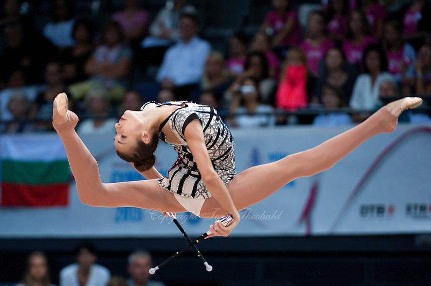 September 11, 2015 - Stuttgart, Germany -  VIKTORIA MAZUR  of Ukraine performs during AA final at 2015 World Championships.