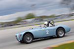 Don McKay races his Austin Healey 100 4 in the Austin Healey Challenge at the SVRA Vintage GT Challenge at Road America, 2005