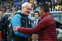 Claudio Ranieri coach Sampdoria , Nuno Campos assistant coach AS Roma <br /> Genova 20-10-2019 Stadio Luigi Ferraris <br /> Football Serie A 2019/2020 Sampdoria - AS Roma <br /> Photo Gino Mancini / Insidefoto