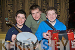 Cieran O'Sullivan Gneeveguilla, Adrian Carroll Kilcummin and Brian O'Leary Gneeveguilla who got toes tapping at the Gathering festival in the Gleneagle Hotel Killarney on Sunday .