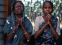 Delhi / India.Malati di lebbra in cura presso il Nirmala Hospital..Foto Livio Senigalliesi..Delhi / India.Leprosy patients being treated at the Nirmala hospital in Delhi..Photo Livio Senigalliesi