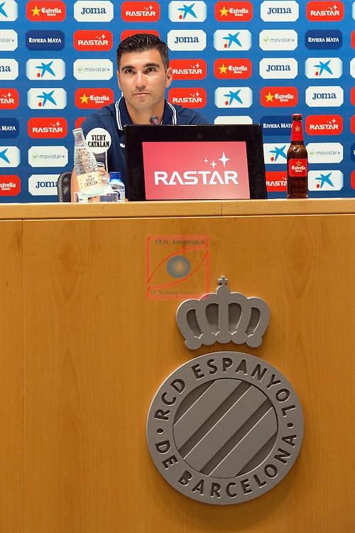 League BBVA 2016/2017.<br /> Jose Antonio Reyes presented as new player of RCD Espanyol.