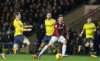 Ricky Holmes of Northampton Town calls for the ball during the Sky Bet League 2 match between Oxford United and Northampton Town at the Kassam Stadium, Oxford, England on 16 February 2016. Photo by Andy Rowland.