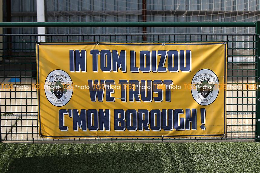 Tom Loizou bannerduring Haringey Borough vs Corinthian Casuals, BetVictor League Premier Division Football at Coles Park Stadium on 10th August 2019