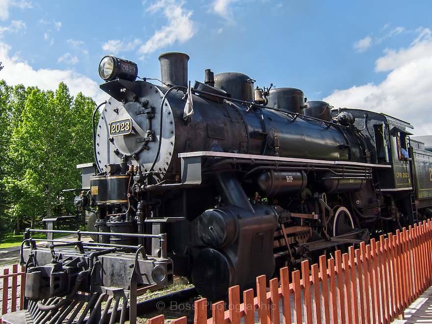 Steam locomotive, Heritage Park Historical Village, Calgary