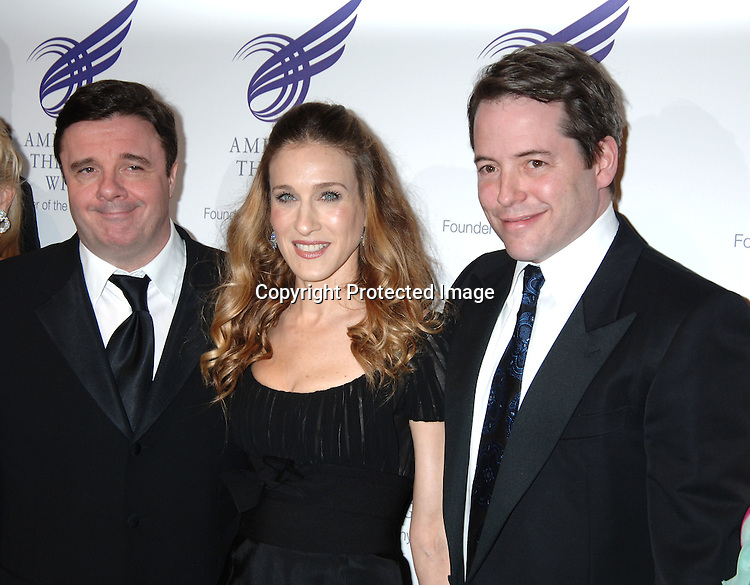 Nathan Lane, Sarah Jessica Parker and Matthew Broderick..at The American Theatre Wing's Annual Spring Gala honoring Matthew Broderick and Nathan Lane on ..April 10, 2006 at Cipriani 42nd Street. ..Robin Platzer, Twin Images