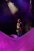 Pastor Ted Haggard, of the New Life church in Colorado Springs, Colo., observes set construction for a theatrical presentation of the passion to be staged at the mammoth church at Easter. Haggard later stepped down as pastor of one of the country's most influential evangelical megachurches on the heels of accusations he had smoked crack cocaine and had sex with a male prostitute in Denver.