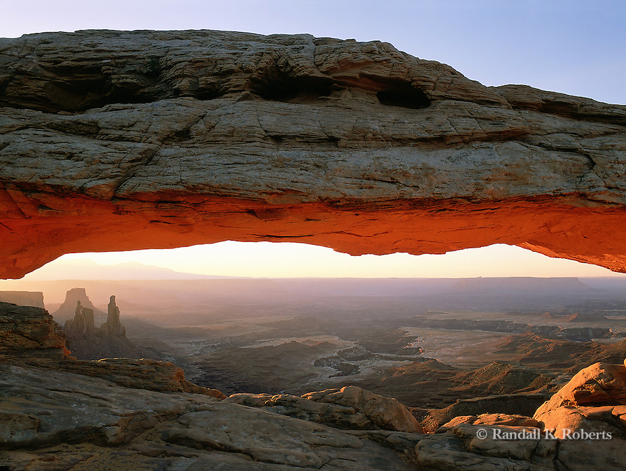 Sunrise on Mesa Arch, Islands in the Sky district, Canyonlands National Park, Utah