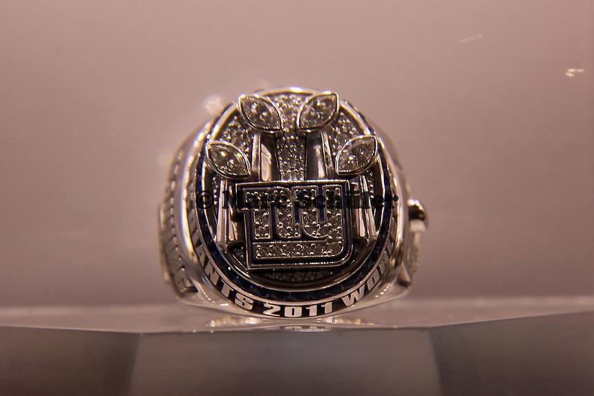 Super Bowl Ringe der einzelnen Siegerteams: XLVI New York Giants 2011