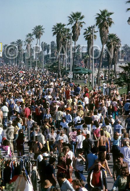Venice Beach, California, U.S.A, March, 1980. Everyday life scenes in Venice Beach.
