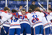 - The University of Massachusetts-Lowell River Hawks defeated the University of Alabama-Huntsville Chargers 3-0 on Friday, November 25, 2011, at Tsongas Center in Lowell, Massachusetts.