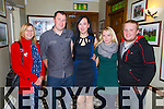 Pictured in Leens Hotel, Abbeyfeale on Saturday night a small family celebration on the engagement of Patrick MacEntee and Sinead Long were L-R: Ann MacEntee, Patrick MacEntee, Sinead Long, Lisa and Mark Doody, Abbeyfeale.