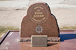 Memorial for murdered policeman PC Brian Bishop at Frinton on Sea, Essex, England