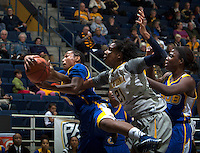 Reshanda Gray of California fights for a loose ball during the game against Bakersfield at Haas Pavilion in Berkeley, California on December 15th, 2013.  California defeated Bakersfield Roadrunners, 70-51.