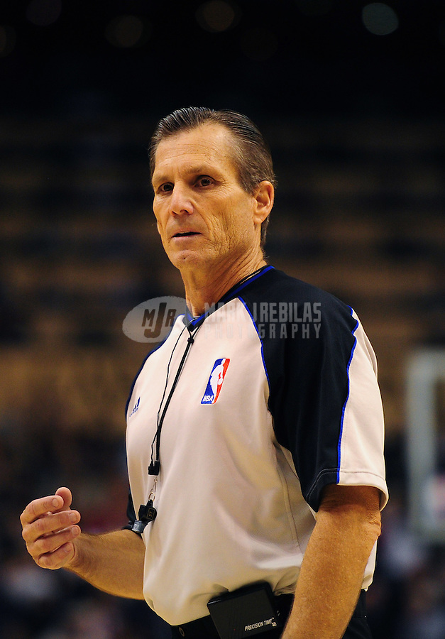 Dec. 26, 2011; Phoenix, AZ, USA; NBA referee Greg Willard during Phoenix Suns against the New Orleans Hornets at the US Airways Center. The Hornets defeated the Suns 85-84. Mandatory Credit: Mark J. Rebilas-USA TODAY Sports