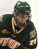 Brendan Bradley (UVM - 20) - The visiting University of Vermont Catamounts defeated the Northeastern University Huskies 6-2 on Saturday, October 11, 2014, at Matthews Arena in Boston, Massachusetts.