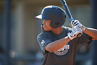 New York Yankees Madison Santos (10) during an Instructional League intrasquad game on September 27, 2019 at New York Yankees Minor League Complex in Tampa, Florida.  (Mike Janes/Four Seam Images)
