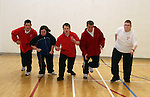 Athletes, Keith Skelly, Niamh Kiernan, Richard Leonard, Karl Rooney and Edward Kennedy at the Launch of the Special Olympics Team...Photo NEWSFILE/Jenny Matthews.(Photo credit should read Jenny Matthews/NEWSFILE)....This Picture has been sent you under the condtions enclosed by:.Newsfile Ltd..The Studio,.Millmount Abbey,.Drogheda,.Co Meath..Ireland..Tel: +353(0)41-9871240.Fax: +353(0)41-9871260.GSM: +353(0)86-2500958.email: pictures@newsfile.ie.www.newsfile.ie.FTP: 193.120.102.198.