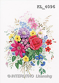 Interlitho, FLOWERS, paintings, rose, clematis(KL4096,#F#) stickers