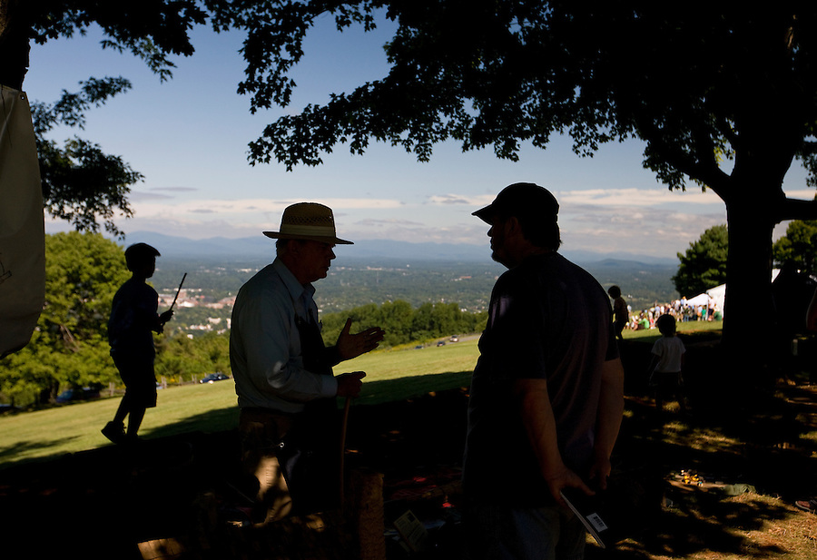 Patrons of the cultural festival enjoy learning about the history of how things were made from Mt Altos in onto the city of Charlottesville. Credit Image: © Andrew Shurtleff