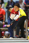 Daisuke Yoshida (JPN), <br /> AUGUST 23, 2018 - Bowling : <br /> Men's Trios Block 2 <br /> at Jakabaring Sport Center Bowling Center <br /> during the 2018 Jakarta Palembang Asian Games <br /> in Palembang, Indonesia. <br /> (Photo by Yohei Osada/AFLO SPORT)