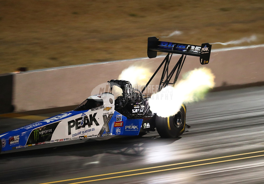 Jul 27, 2018; Sonoma, CA, USA; NHRA top fuel driver Brittany Force during qualifying for the Sonoma Nationals at Sonoma Raceway. Mandatory Credit: Mark J. Rebilas-USA TODAY Sports
