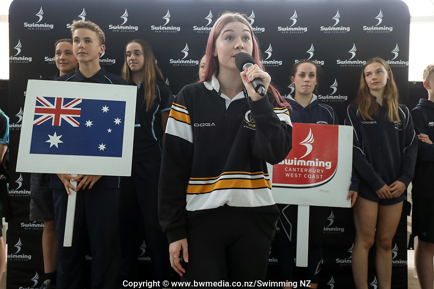 New Zealand Short Course Swimming Championships, National Aquatic Centre, Auckland, New Zealand, Tuesday 1st October 2019. Photo: Simon Watts/www.bwmedia.co.nz/SwimmingNZ