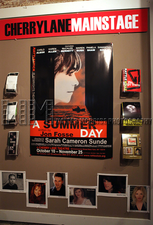 Theatre Marquee at the Opening Night Performance of The Rattlestick Playwrights Theater Production of 'A Summer Day' at the Cherry Lane Theatre on 10/25/2012 in New York.