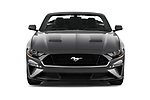 Car photography straight front view of a 2018 Ford Mustang GT Premium 2 Door Convertible