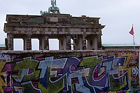 The Brandenburg Gate is separated from the west side of the city by the Berlin Wall