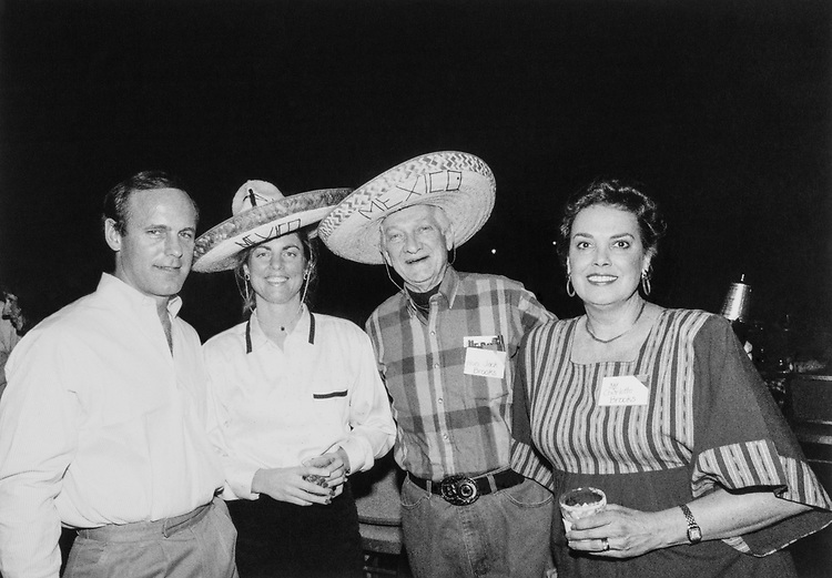 Rep. Jack Brooks, D-Tex., with wife Charlotte Collins Brooks, Rep. Jack Russ and his wife. (Photo by Dev O'Neill/CQ Roll Call)
