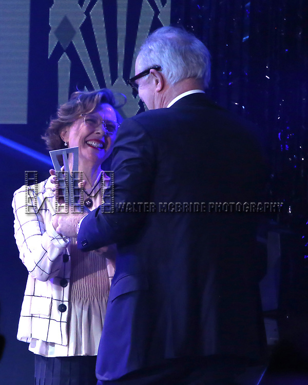John Lithgow and Annette Benning during the Roundabout Theatre Company's 2019 Gala honoring John Lithgow at the Ziegfeld Ballroom on February 25, 2019 in New York City.