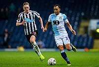 Blackburn Rovers' Elliott Bennett gets away from Newcastle United's Sean Longstaff<br /> <br /> Photographer Alex Dodd/CameraSport<br /> <br /> Emirates FA Cup Third Round Replay - Blackburn Rovers v Newcastle United - Tuesday 15th January 2019 - Ewood Park - Blackburn<br />  <br /> World Copyright © 2019 CameraSport. All rights reserved. 43 Linden Ave. Countesthorpe. Leicester. England. LE8 5PG - Tel: +44 (0) 116 277 4147 - admin@camerasport.com - www.camerasport.com