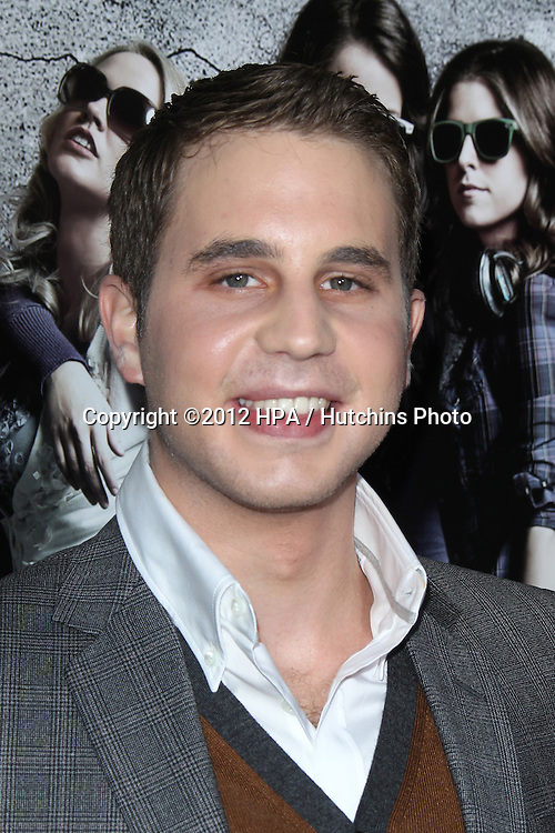 """LOS ANGELES - SEP 24:  Ben Platt arrives at the """"Pitch Perfect'"""" Premiere at ArcLight Cinemas on September 24, 2012 in Los Angeles, CA"""