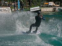 wake board, Freizeitpark Area 47, &Ouml;tztal-Bahnhof, Imst, Tirol, &Ouml;sterreich, Europa<br /> Wake boarding, outdoor sports park Area 47, &Ouml;tztal-Bahnhof,, Imst, Tyrol, Austria, Europe