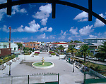 Antigua, West Indies<br /> Hero's Park and fountain at the end of Market Street, St John's - <br /> Caribbean Leeward Islands