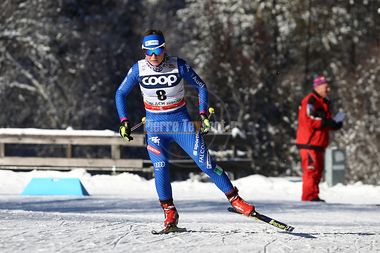 Cross Country Ski World Cup 2018 FIS in Dobbiaco, Toblach, on December 16, 2017; Ladies 10 Km Interval Start Free technique ; Anna Comarella (ITA)<br /> &copy; Pierre Teyssot / Pentaphoto