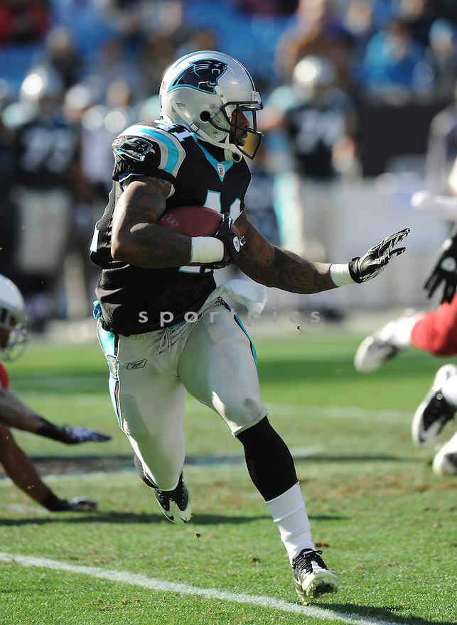 CAPTAIN MUNNERLYN, of the Carolina Panthers in action durIng the Panthers game against the Arizona Cardinals at Bank of America Stadium, on December 19, 2010....Panthers beat the Cardinals 19-12