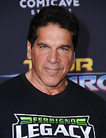 10 October  2017 - Hollywood, California - Lou Ferrigno. World Premiere of &quot;Thor: Ragnarok&quot; held at The El Capitan Theater in Hollywood. <br /> CAP/ADM/BT<br /> &copy;BT/ADM/Capital Pictures