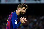 Gerard Pique Bernabeu of FC Barcelona reacts during the La Liga match between Barcelona and Real Sociedad at Camp Nou on May 20, 2018 in Barcelona, Spain. Photo by Vicens Gimenez / Power Sport Images