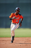 San Francisco Giants Jalen Miller (18) during an Instructional League game against the Colorado Rockies on October 8, 2016 at the Giants Baseball Complex in Scottsdale, Arizona.  (Mike Janes/Four Seam Images)