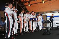 #91 PORSCHE GT TEAM (DEU) PORSCHE 911 RSR GTE PRO RICHARD LIETZ (AUT) GIANMARIA BRUNI (ITA) FREDERIC MAKOWIECKI (FRA)<br /> #92 PORSCHE GT TEAM (DEU) PORSCHE 911 RSR GTE PRO MICHAEL CHRISTENSEN (DNK) KEVIN ESTRE (FRA) LAURENS VANTHOOR (BEL)<br /> #93 PORSCHE GT TEAM (USA) PORSCHE 911 RSR GTE PRO PATRICK PILET (FRA) NICK TANDY (GBR) EARL BAMBER (NZL)<br /> #94 PORSCHE GT TEAM (USA) PORSCHE 911 RSR GTE PRO ROMAIN DUMAS (FRA) TIMO BERNHARD (DEU) SVEN MULLER (DEU)<br /> MISS 24H <br /> BRUNO VANDESTICK (FRA) OFFICIAL SPEAKER