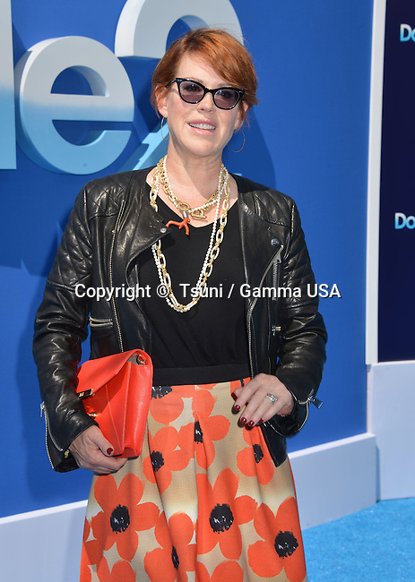 Molly Ringwald  at the Dolphin Tale 2 premiere at the Westwood Village Theatre in Los Angeles.