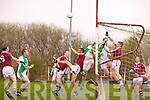'Spot the Ball' - In the opening minutes of the game Ballyduff sent in a dangerous high ball into the Dromid goal mouth only to be cleared by Colm O'Connor preventing what could have been an opening shocker to the Dromid men.