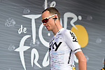 Christopher Froome (GBR) Team Sky at sign on before the start of Stage 13 of the 104th edition of the Tour de France 2017, running 101km from Saint-Girons to Foix, France. 14th July 2017.<br /> Picture: ASO/Pauline Ballet | Cyclefile<br /> <br /> <br /> All photos usage must carry mandatory copyright credit (&copy; Cyclefile | ASO/Pauline Ballet)