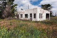 Abandoned cafe in Idalia, KS