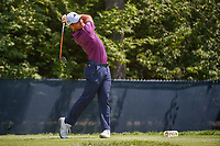Xander Schauffele (USA) watches his tee shot on 9 during 3rd round of the 100th PGA Championship at Bellerive Country Club, St. Louis, Missouri. 8/11/2018.<br /> Picture: Golffile | Ken Murray<br /> <br /> All photo usage must carry mandatory copyright credit (&copy; Golffile | Ken Murray)