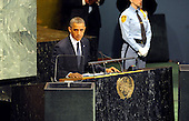 United States President Barack Obama addresses the United Nations General Assembly Tuesday, September 25, 2012 at UN Headquarters in New York City. .Credit: Aaron Showalter / Pool via CNP