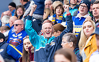 Picture by Allan McKenzie/SWpix.com - 29/04/2018 - Rugby League - Betfred Super League - Hull KR v Leeds Rhinos - KC Lightstream Stadium, Hull, England - Leeds fans, supporters, celebrate as their side takes victory over Hull KR.
