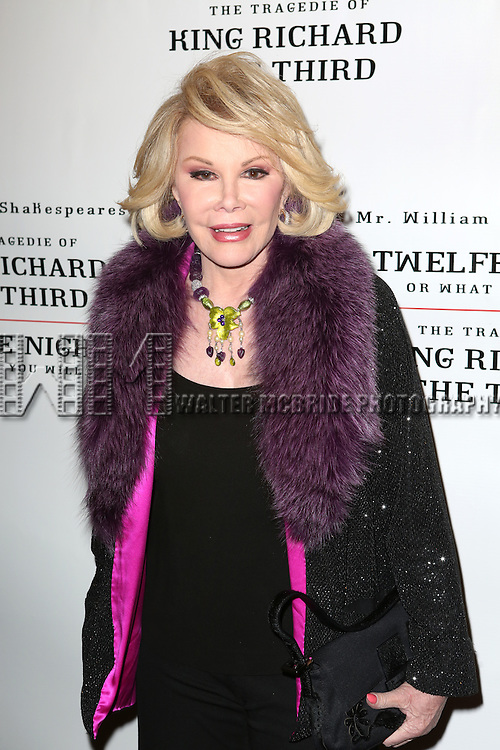 Joan Rivers attend the Broadway Opening Night Performance of 'Twelfth Night' at the Belasco Theatre on November 10, 2013 in New York City.